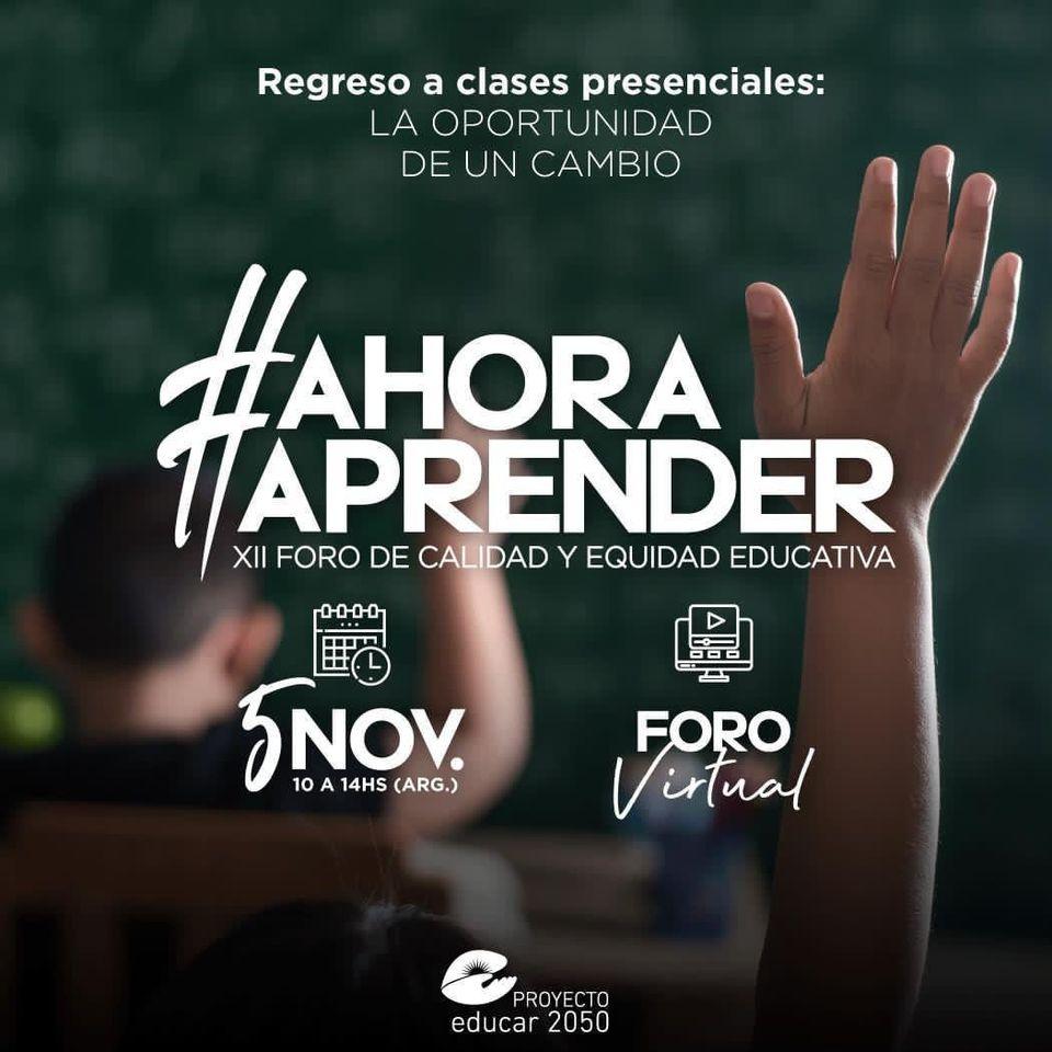 XII Foro de Equidad y Calidad Educativa.